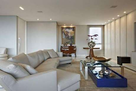 Sof para sala 62 modelos para inspirar a decora o de for Sofa para sala de tv