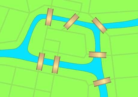 É possível cruzar as pontes uma só vez e voltar ao ponto de partida?