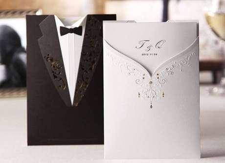 34. Sofisticado embrulho de lembrancinhas para casamento