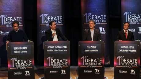 Os candidatos a presidente da Colômbia foram cobrados em relação à onda migratória vinda da Venezuela