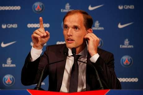 Thomas Tuchel é apresentado como o novo técnico do PSG.