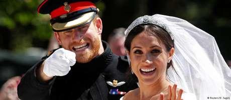 O príncipe Harry e Meghan Markle se casaram no castelo de Windsor diante de 600 convidados