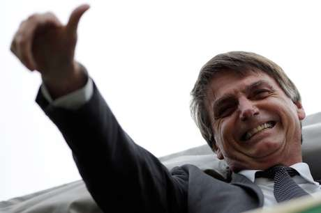 Pré-candidato do PSL à Presidência, Jair Bolsonaro, durante protesto contra ex-presidente Luiz Inácio Lula da Silva em Brasília 04/04/2018 REUTERS/Ueslei Marcelino