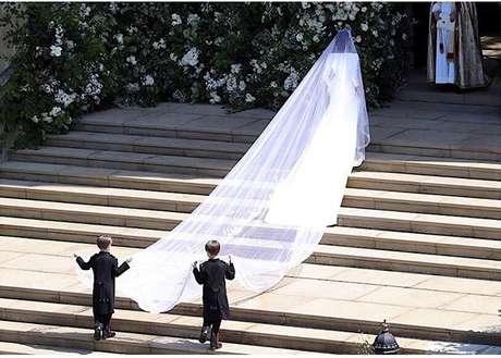 Véu de noiva (Foto: Reprpdução/Instagram/@kensingtonroyal)