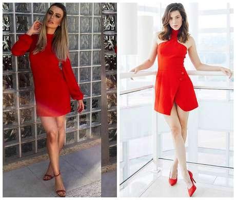 Vermelho: Fernanda Keulla e Sophia Abrahão (Fotos: Reprodução/Instagram)