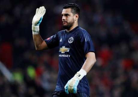 Romero em jogo do Manchester United contra o Derby County  5/1/2018      Action Images via Reuters/Jason Cairnduff