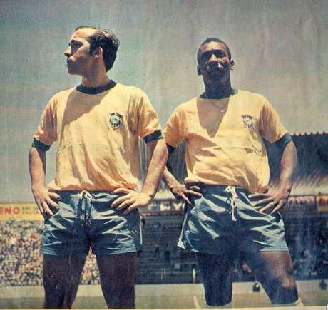 Tostão e Pelé na Copa do Mundo de 1970