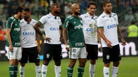 Felipe Melo durante o empate com o Palmeiras, nesta quarta-feira (Foto: Luis Moura / WPP)