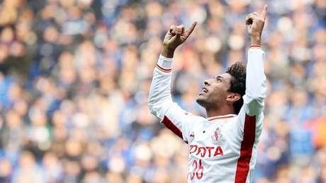 William Rocha, do Nagoya Grampus, não vê a hora de enfrentar Iniesta (Foto: Divulgação/Nagoya Grampus)