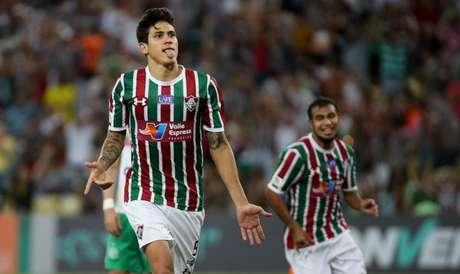 Pedro fez o primeiro e o terceiro gols do Fluminense (FOTO: LUCAS MERÇON / FLUMINENSE F.C)