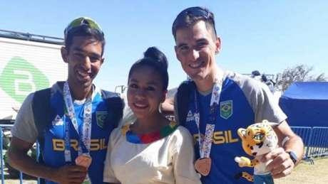 Emanuel Borges e Evaldo Becker conquistaram o bronze na prova de Double Skiff Peso Leve (Foto: Divulgação/COB)