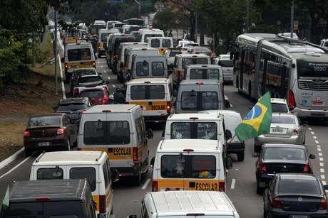 Trânsito nesta segunda ficou abaixo da média na capital paulista