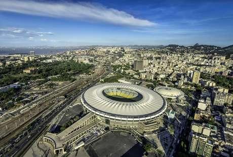 Vista aérea do estádio do Maracanã, que deverá receber jogos da Copa América