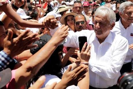 Candidato presidencial mexicano de esquerda Andrés Manuel López Obrador 28/05/2018 REUTERS/Alan Ortega