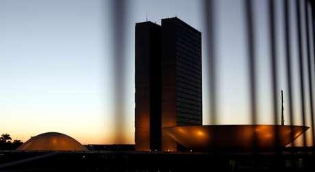 Visão geral do prédio do Congresso em Brasília