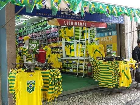 Lojas vazias no centro do Rio