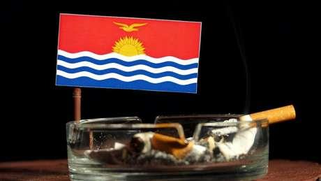 Kiribati tem baixos impostos para a produção e venda de cigarros