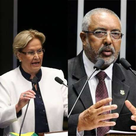 A senadora Ana Amélia (PP) e o senador Paulo Paim (PT) vão tentar a reeleição pelo RS.