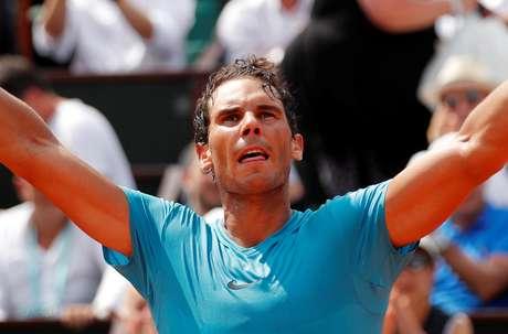 Nadal comemora vitória em Roland Garros  4/6/2018    REUTERS/Charles Platiau