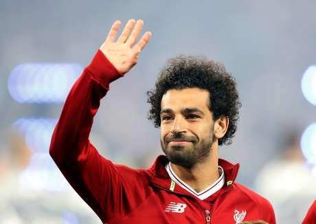 O atacante Mohamed Salah, estrela do Egito