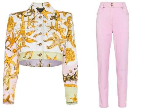 Jaqueta e calça Versace usadas por Bruna Marquezine (Fotos: Reprodução/Versace)