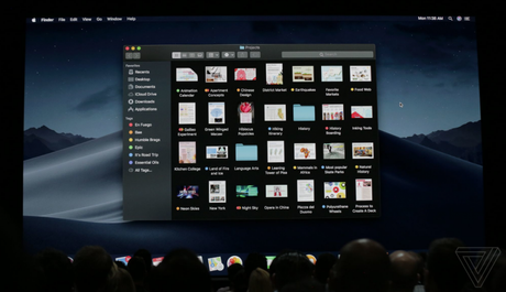 Modo de navegação escuro do macOS (Imagem: The Verge)