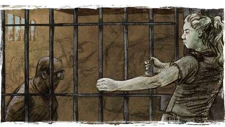 Tábata trancou seu estuprador na cela após um longo processo