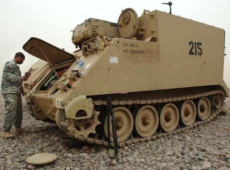 Tanque do mesmo modelo que o roubado pelo militar americano