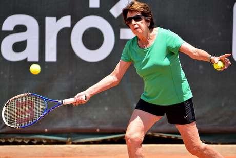 A ex-tenista Maria Esther Bueno, em 2016