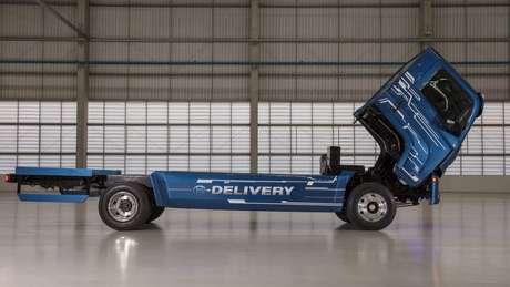 Caminhão elétrico do modelo e-Delivery deve ser produzido em série a partir de 2020, em Resende (RJ)