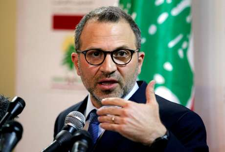 Ministro das Relações Exteriores do Líbano, Gebran Bassil, durante entrevista coletiva em Beirute 04/06/2018 REUTERS/Mohamed Azakir