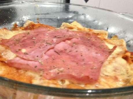 Pizza de pão de forma integral 2 camadas