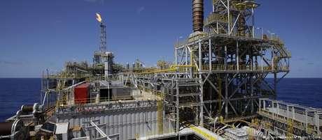 Ponto de exploração de petróleo
