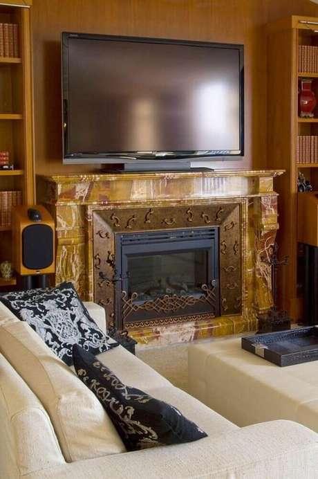 20. Alguns tipos de lareiras ficam lindas com o estilo de decoração provençal