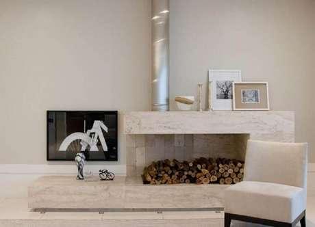 27. Dependendo do revestimento utilizado as lareiras deixam os ambientes mais sofisticados
