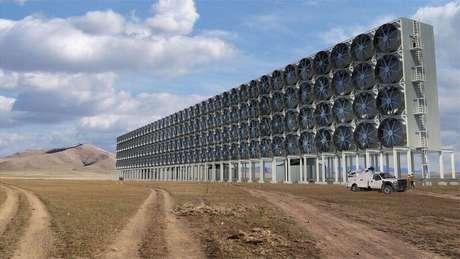 Ilustração da futura usina energética da empresa, que diz ter baixado os custos da extração de carbono do ar