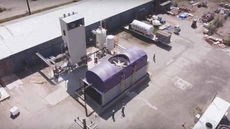 Usina da Carbon Engineering no Canadá; empresa busca investidores para expandir sua atuação