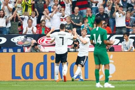 Os gols da seleção alemã foram marcados por Timo Werner e Hawsawi (contra)