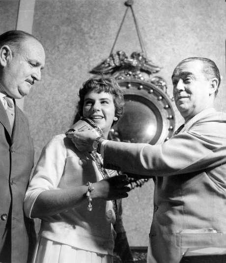 Maria Esther Bueno e o ex-presidente Juscelino Kubitschek