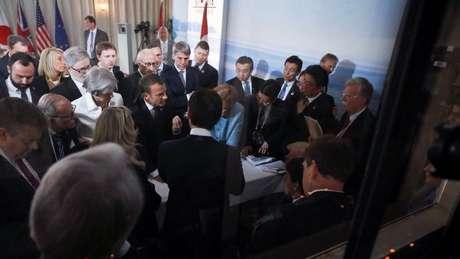 líderes do G7 reunidos