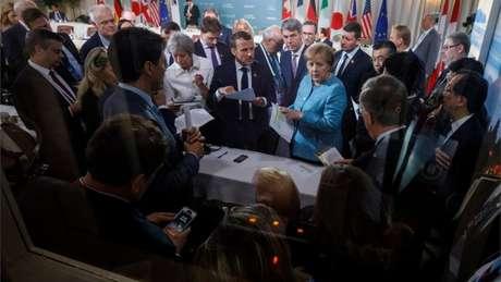 Após deixar encontro, Trump instruiu seu representante a retirar apoio a documento que tinha sido arduamente negociado pelos líderes do G7