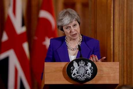 Primeira-ministra britânica, Theresa May 15/05/2018 Matt Dunham/Pool via REUTERS