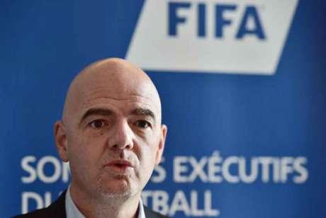 Gianni Infantino, o chefão da Fifa (Foto: Christophe Archambault / AFP)