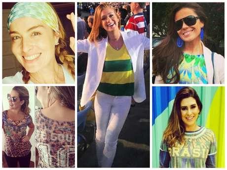 Famosas vestem as cores do Brasil (Fotos: Instagram/Reprodução)