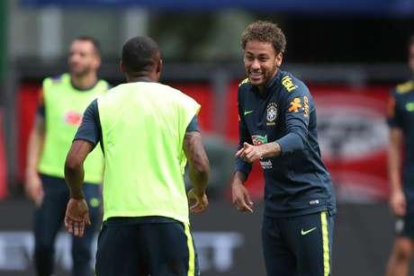 Treino da Seleção Brasileira em Viena