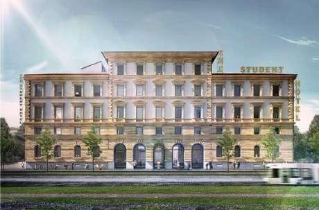 Fachada do 'The Student Hotel' em Florença