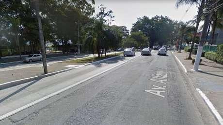 O acidentes aconteceu na altura do número 4.900 da Avenida Atlântica
