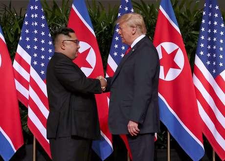 Presidente dos EUA, Donald Trump, e líder norte-coreano, Kim Jong Un 12/06/2018 REUTERS/Jonathan Ernst
