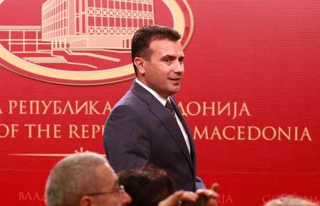 Premiê da Macedônia Zaev chega para evento em Skopje  12/6/2018    REUTERS/Ognen Teofilovski