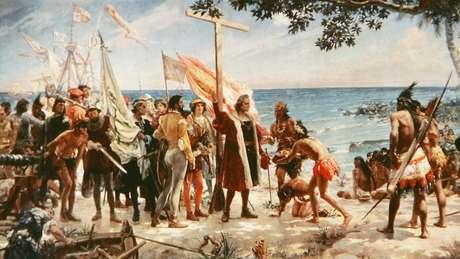 Colombo chegou às Américas em 1492, pensando se tratar das Índias Ocidentais